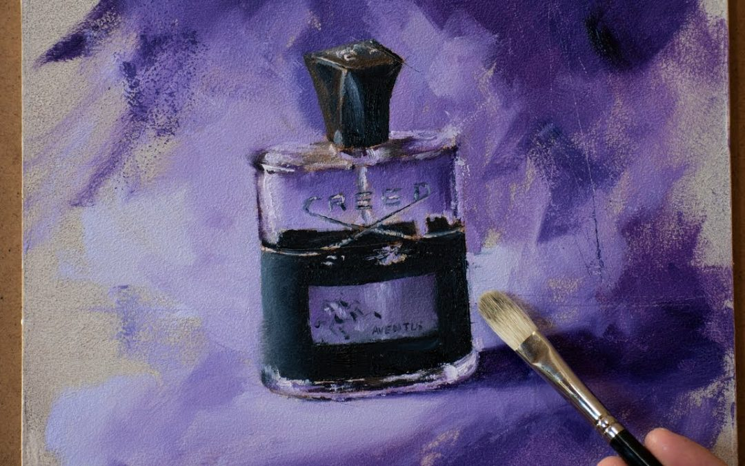 Painting Aventus Creed   Alla Prima Still Life Oil Painting Timelapse